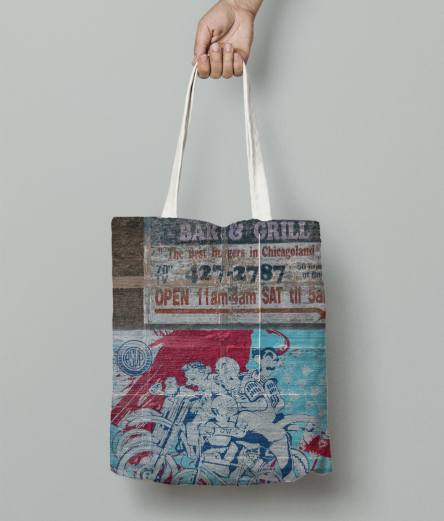 Bikers streets tote bag front