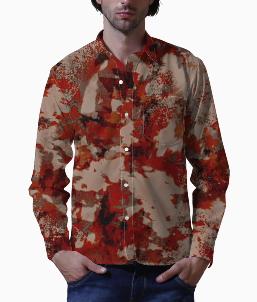 Red planet basic shirt front