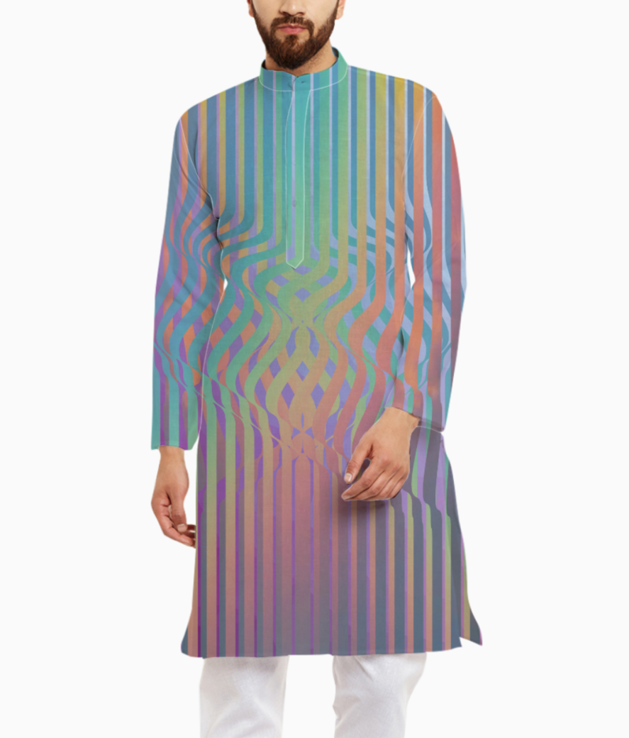 Color wiggle kurta front