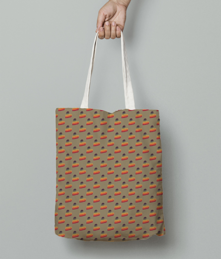Hearts tote bag front