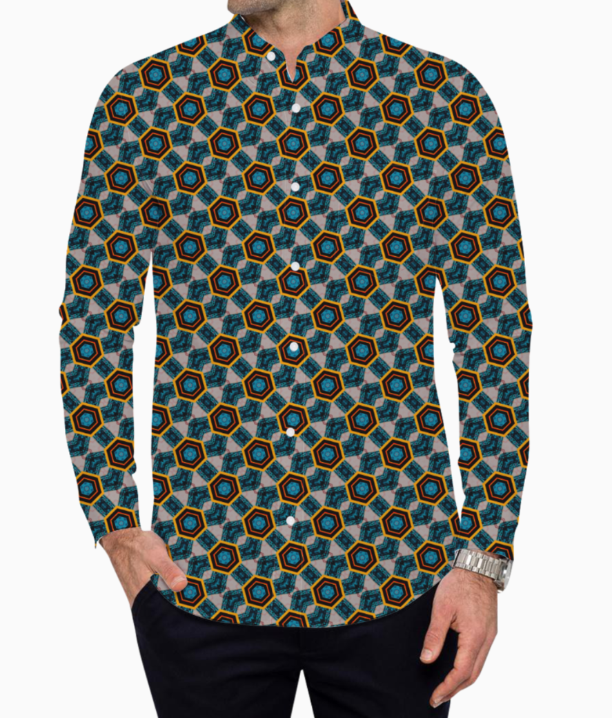 Hexagons basic shirt front
