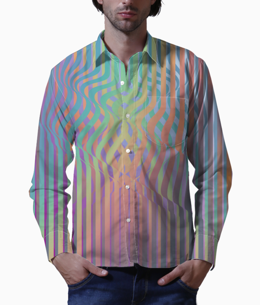 Color wiggle basic shirt front