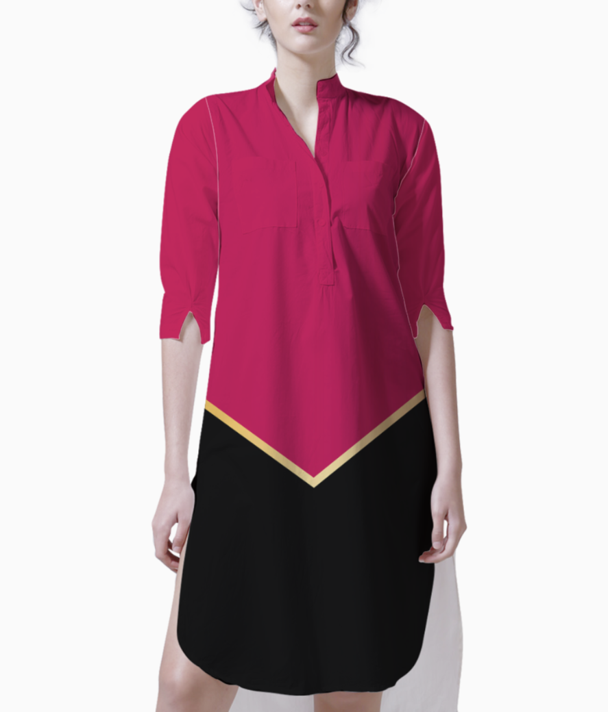 Ruby modern abstract kurti front