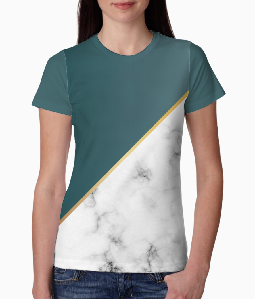 Abstract modern earthstone marble tee front