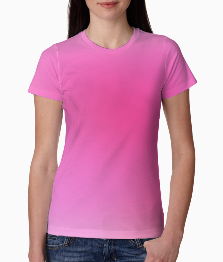 Rose gradient abstract tee front