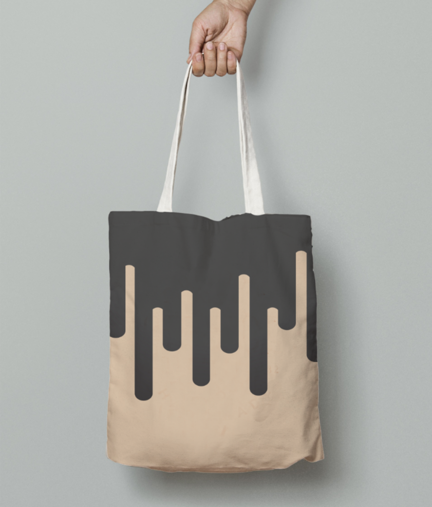 Coffee melting ice cream tote bag front