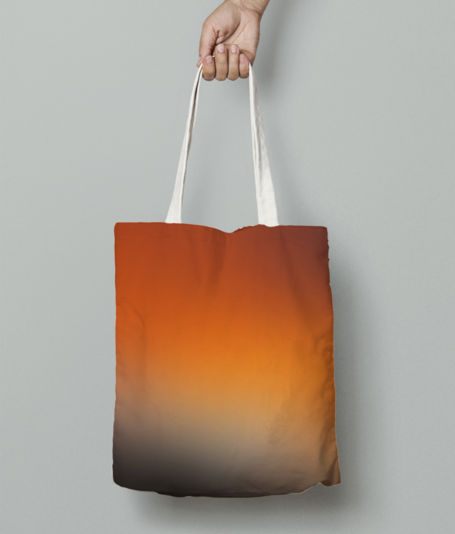 Dusk abstract tote bag front
