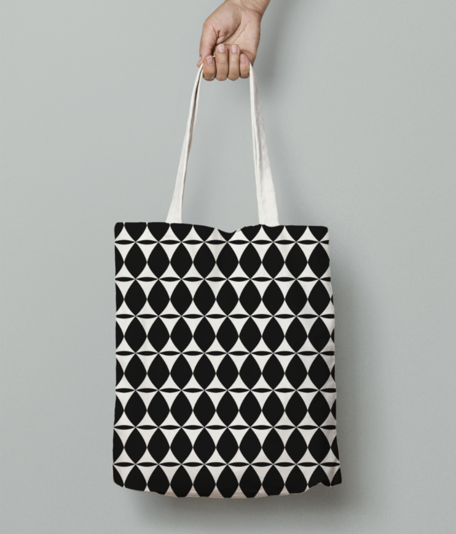 Indian tribal seamless pattern tote bag front