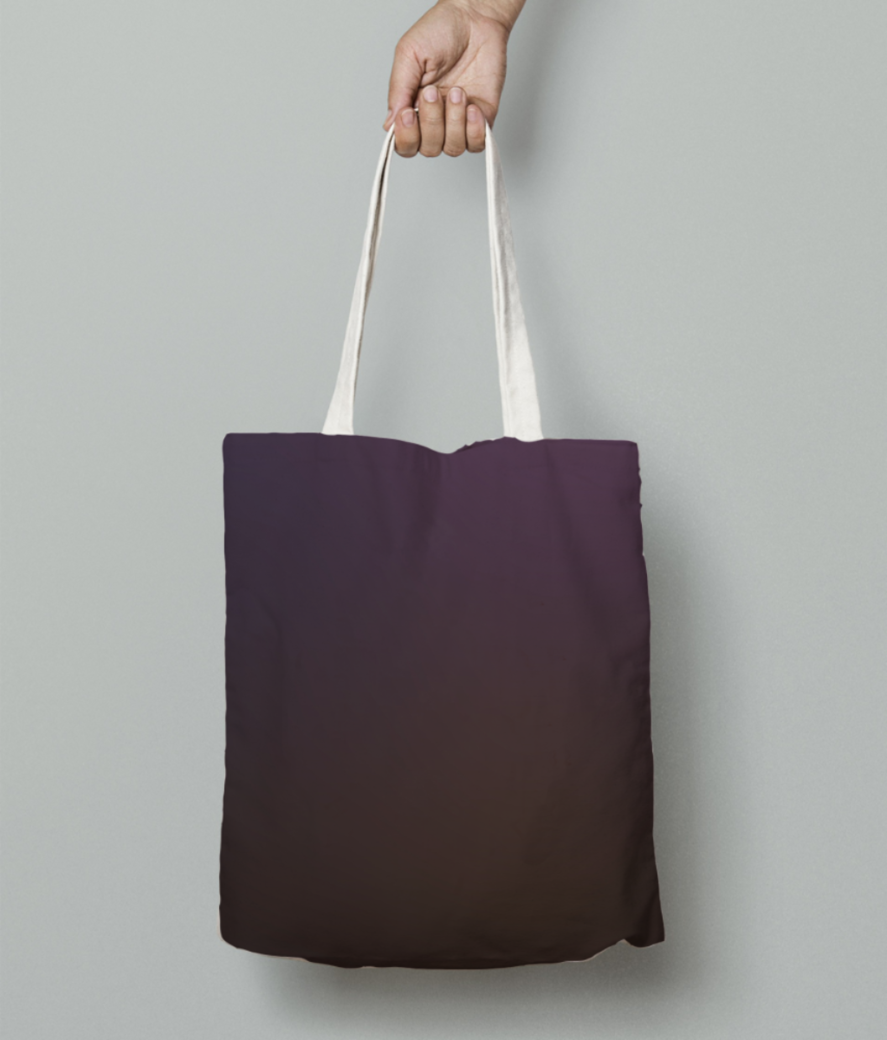 Violet blurred abstract tote bag front