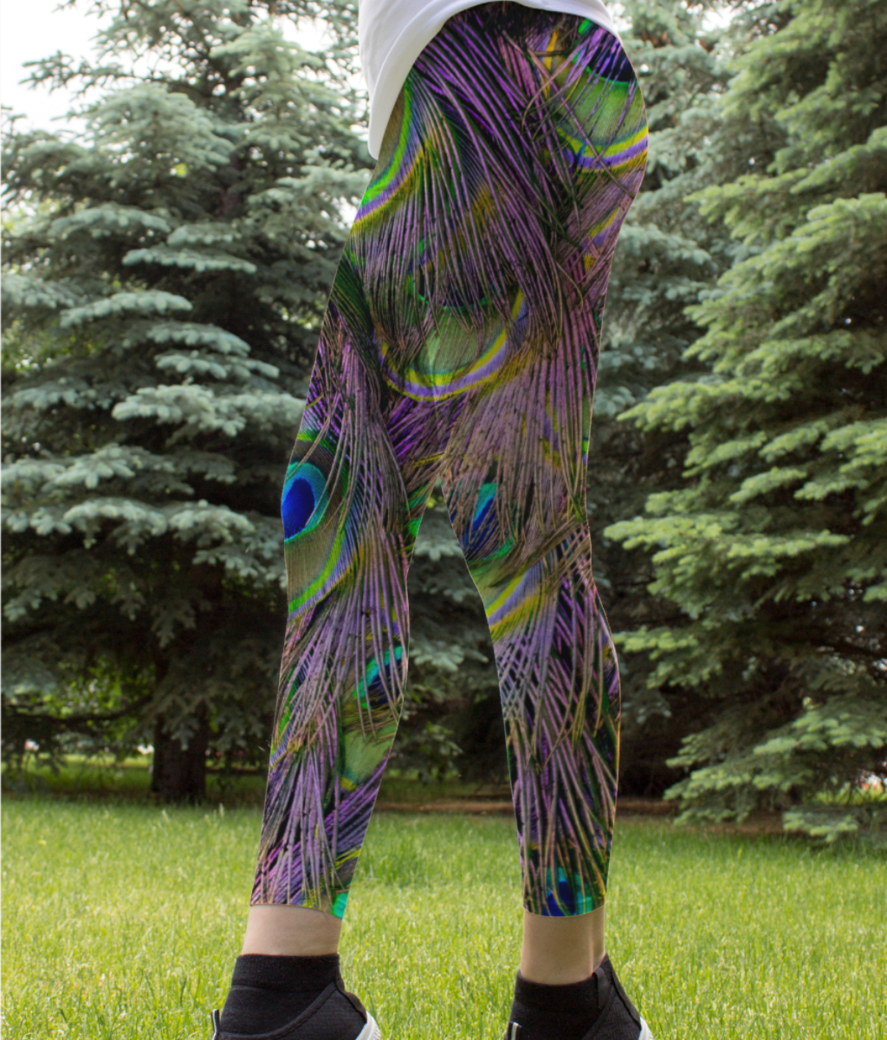 Feathers flow leggings front