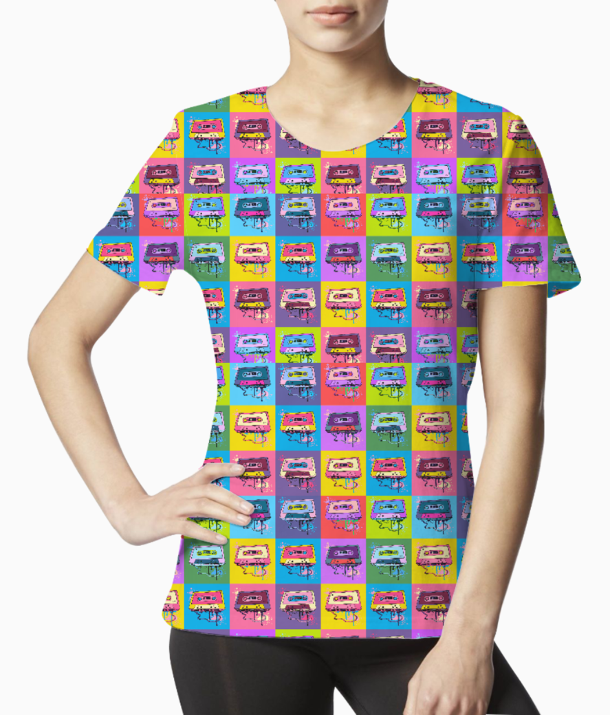 Psychedelic party small print tee front