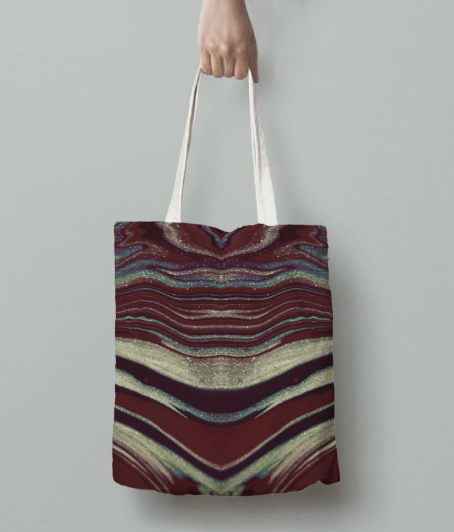 Butterfly skin tote bag back