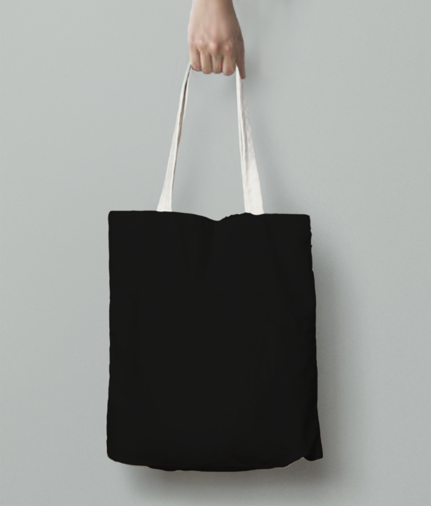 The wolf tote bag back