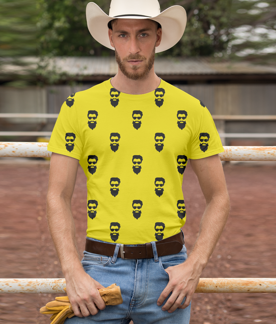 T shirt mockup of a cowboy with a country outfit 27977