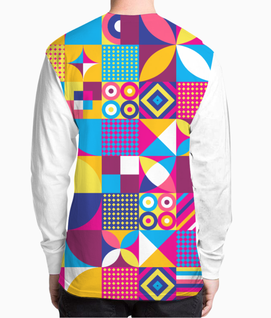 Abstract art henley back