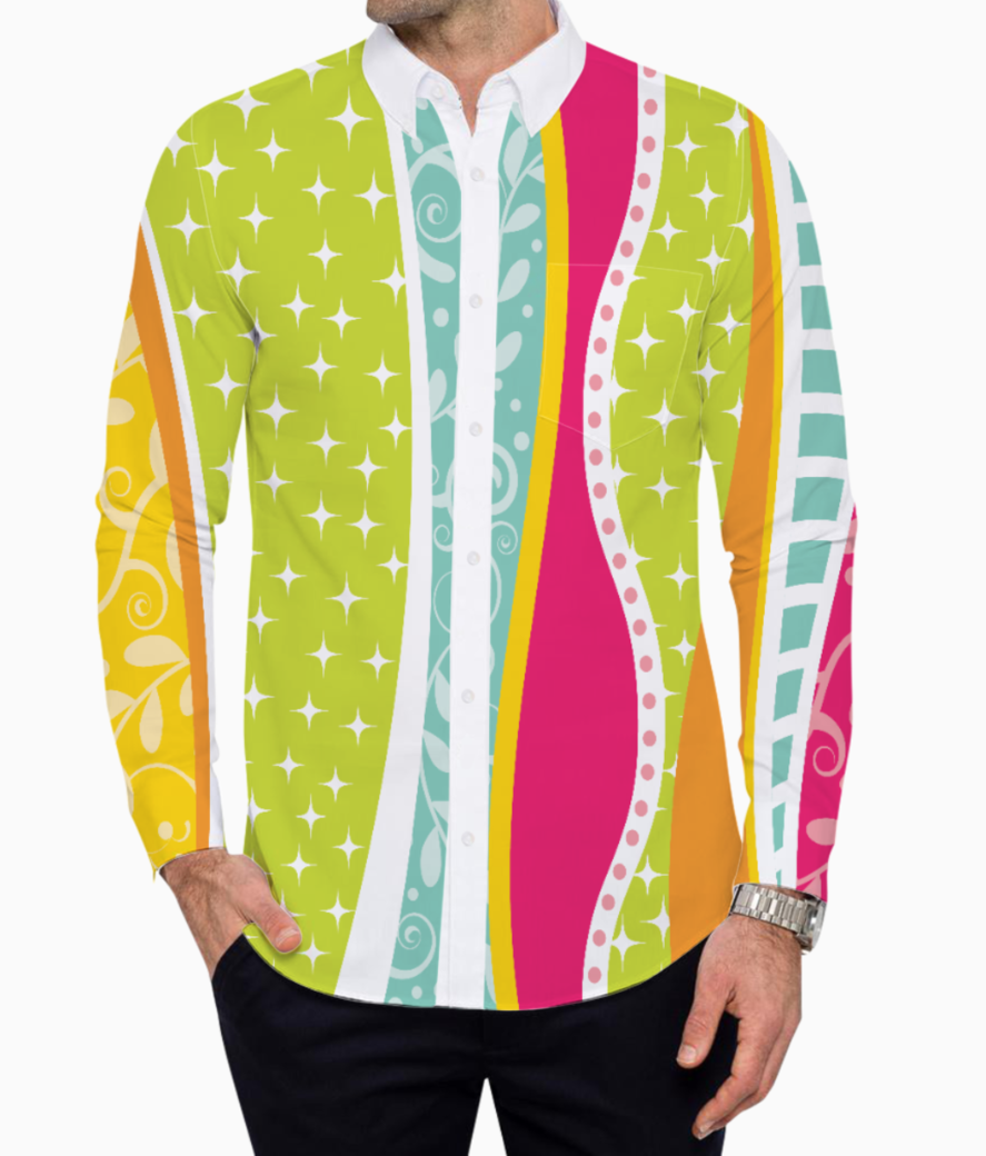 Abstract lines pattern 2 basic shirt front