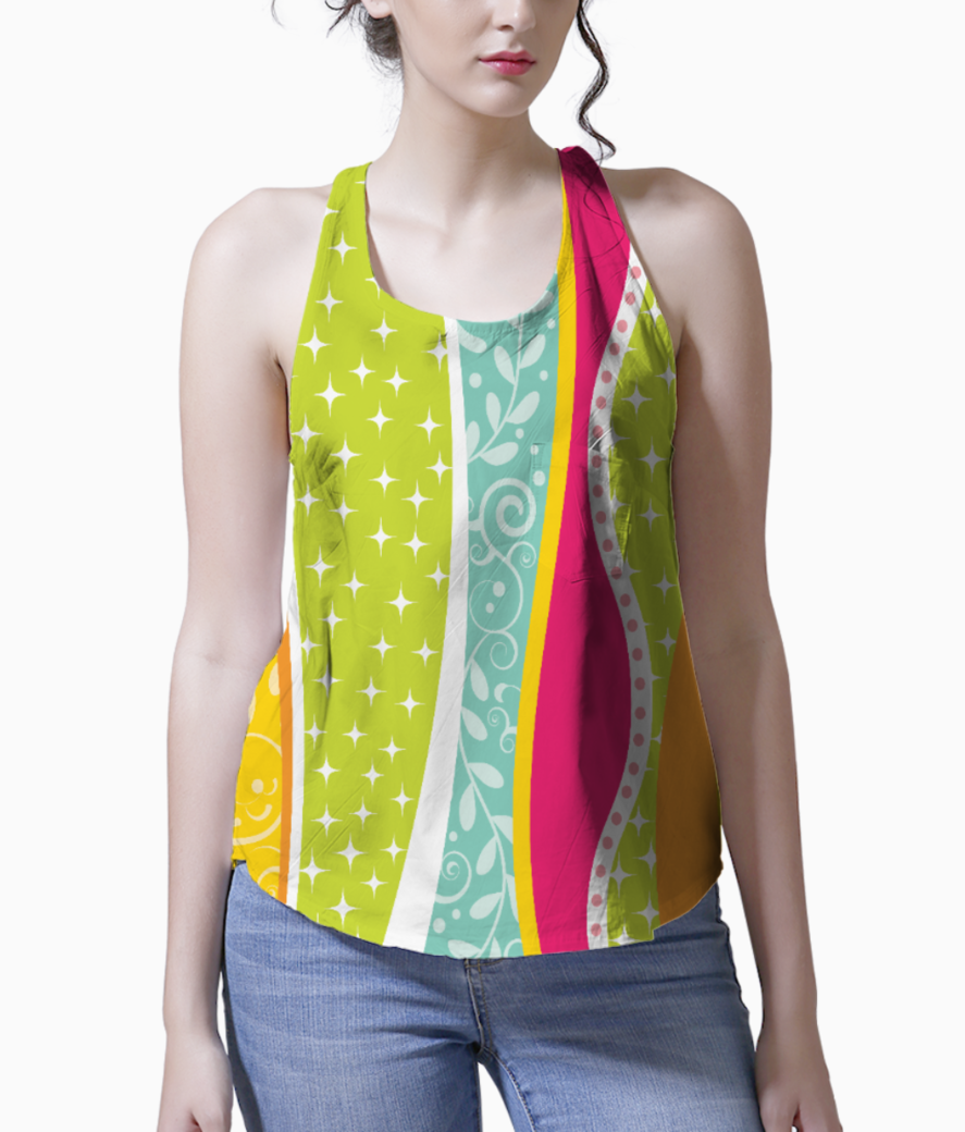 Abstract lines pattern 2 tank front