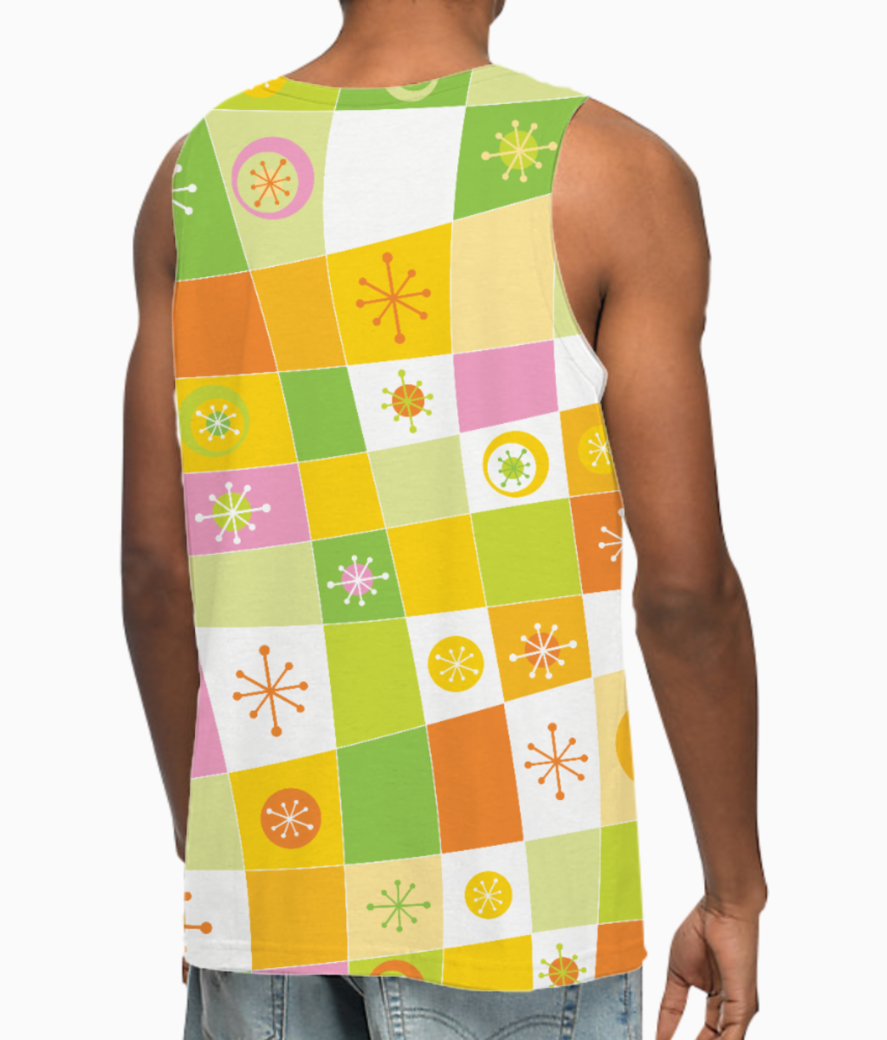 Abstract lines pattern vest back