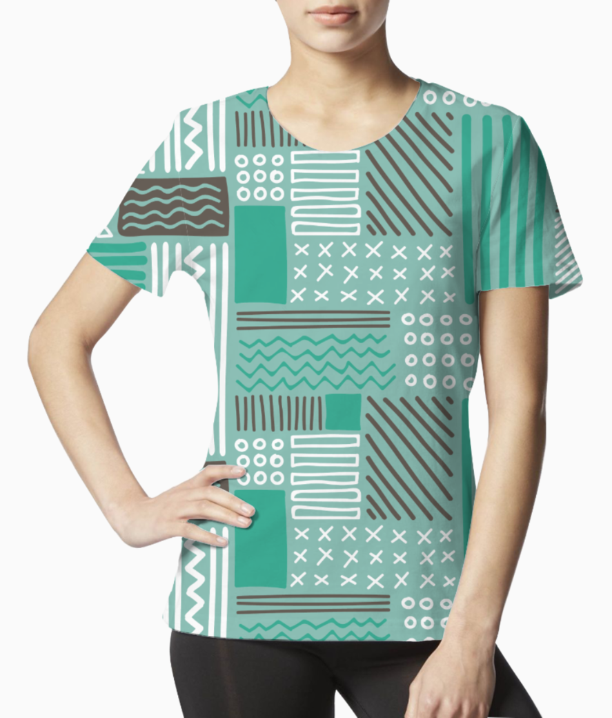 Checks pattern tee front
