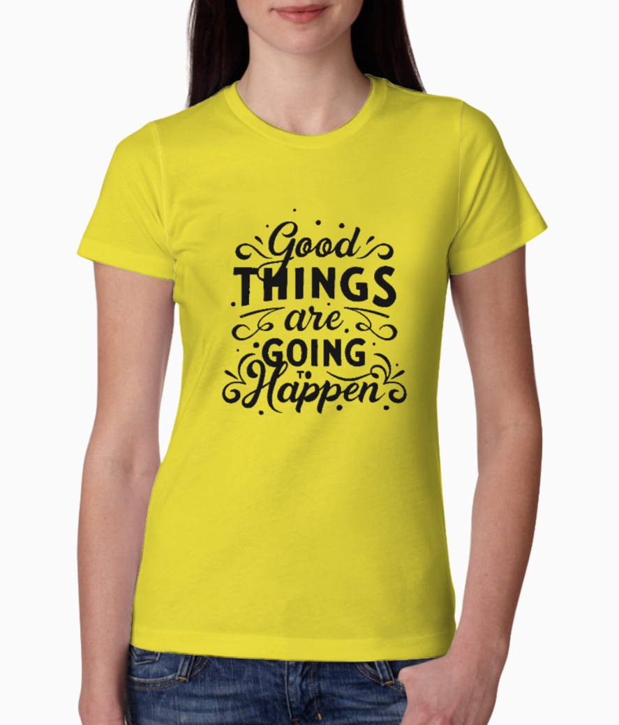 Good things tee front