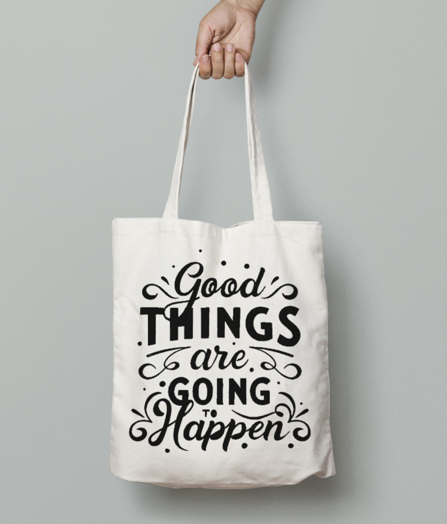 Good things tote bag front