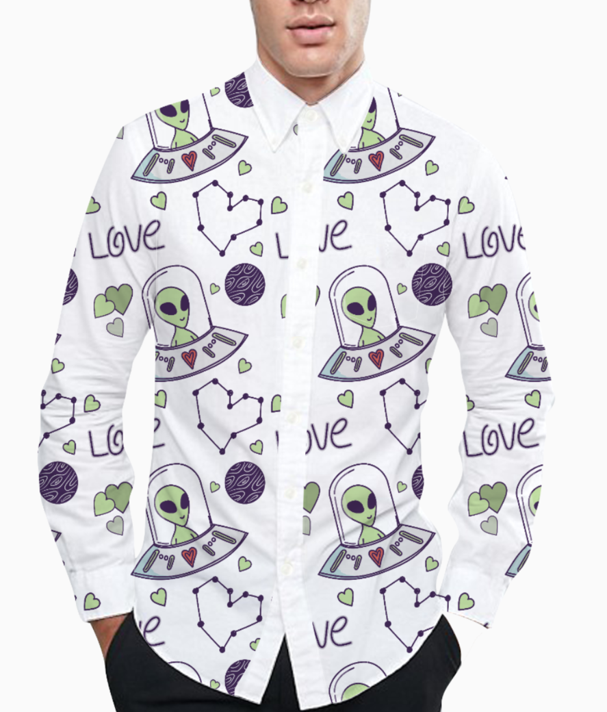 Space love basic shirt front
