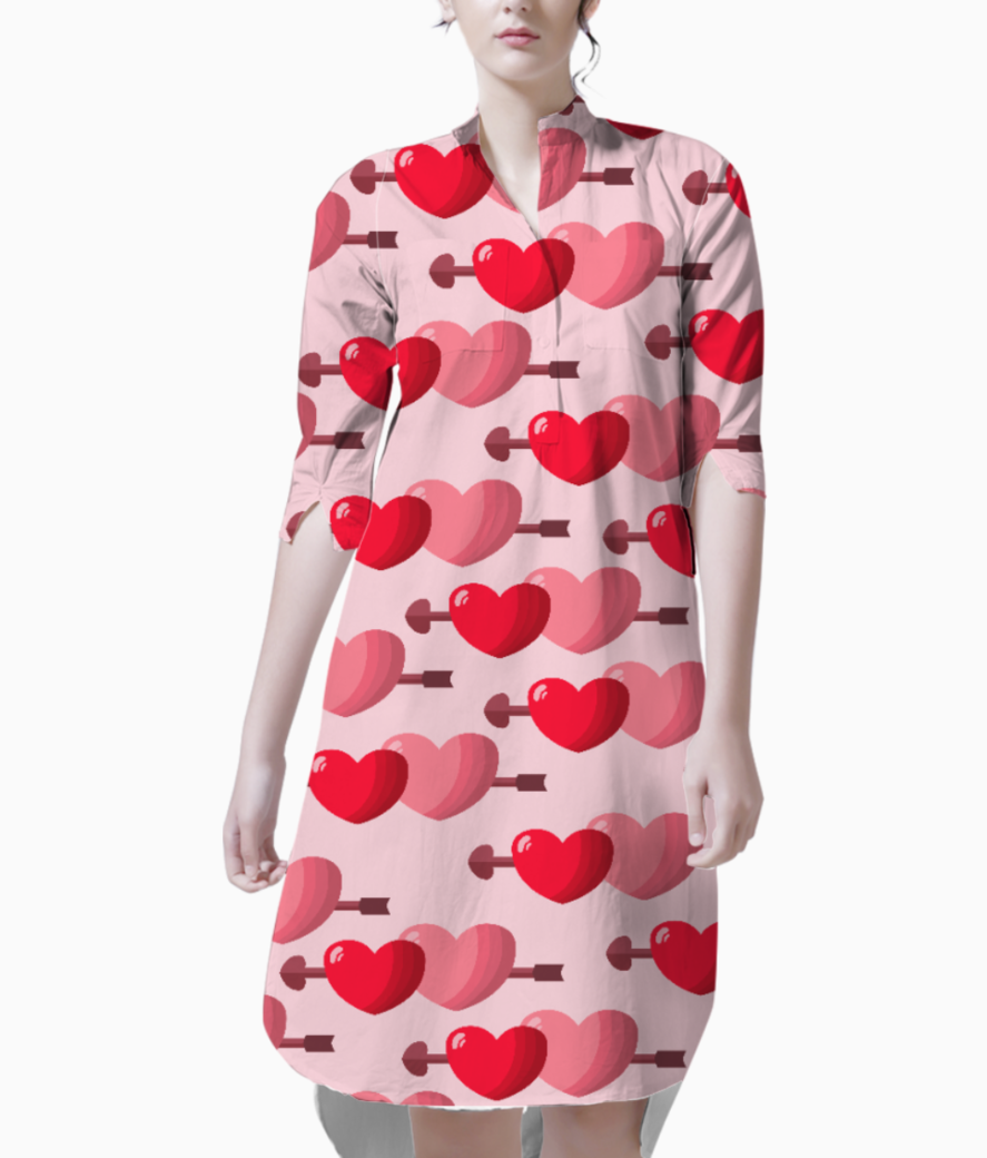 Two hearts kurti front