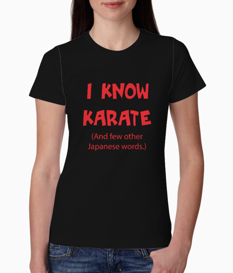 I know karate tee front