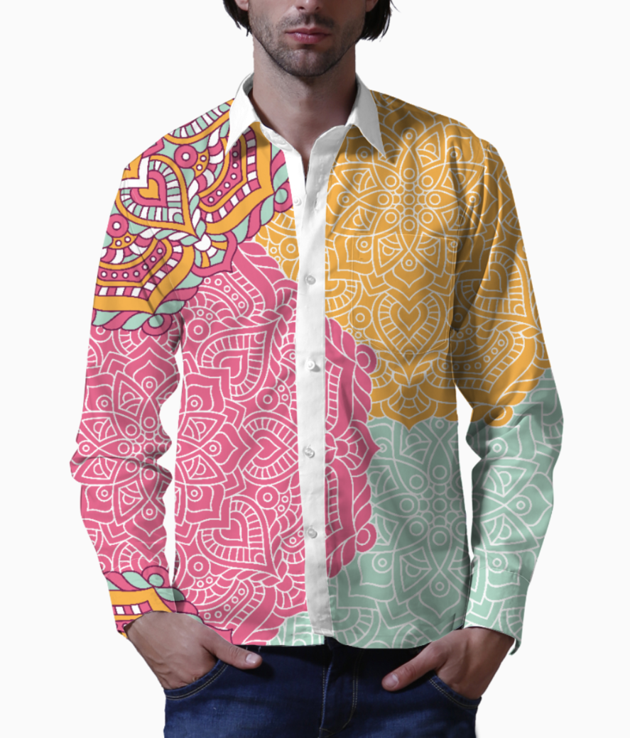 Ethnic pattern 5 basic shirt front