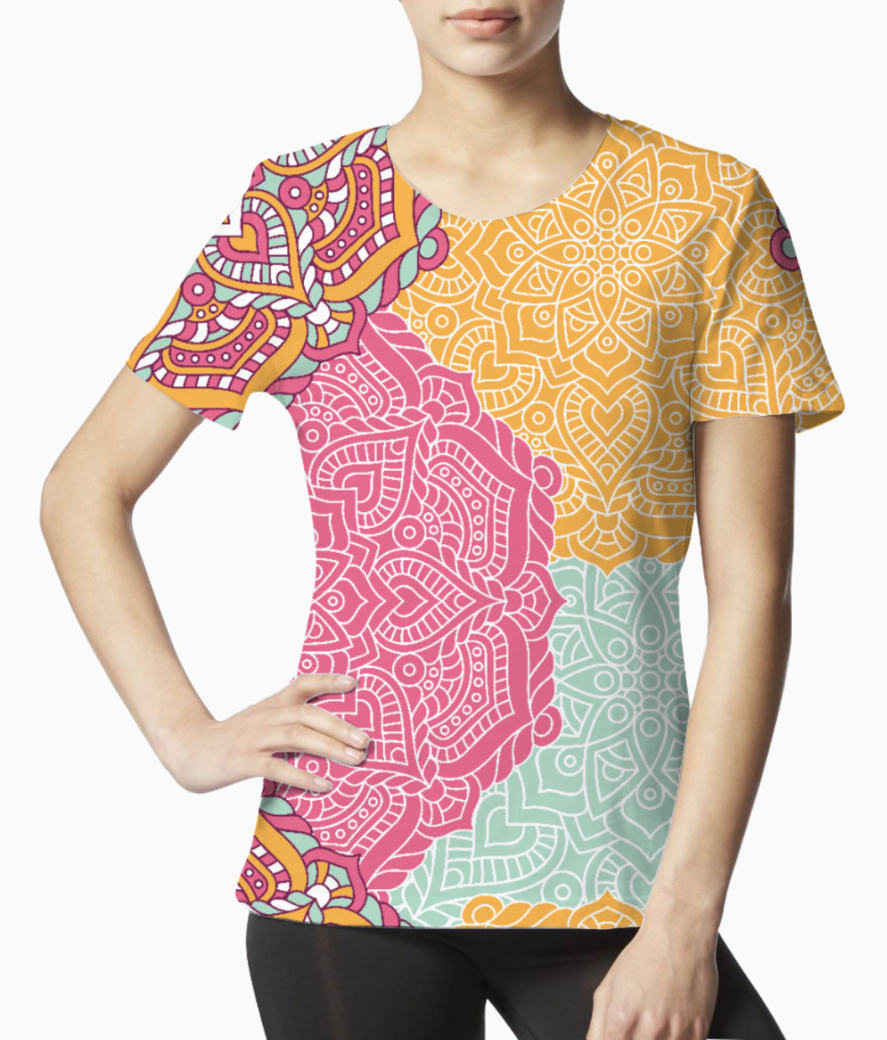 Ethnic pattern 5 tee front