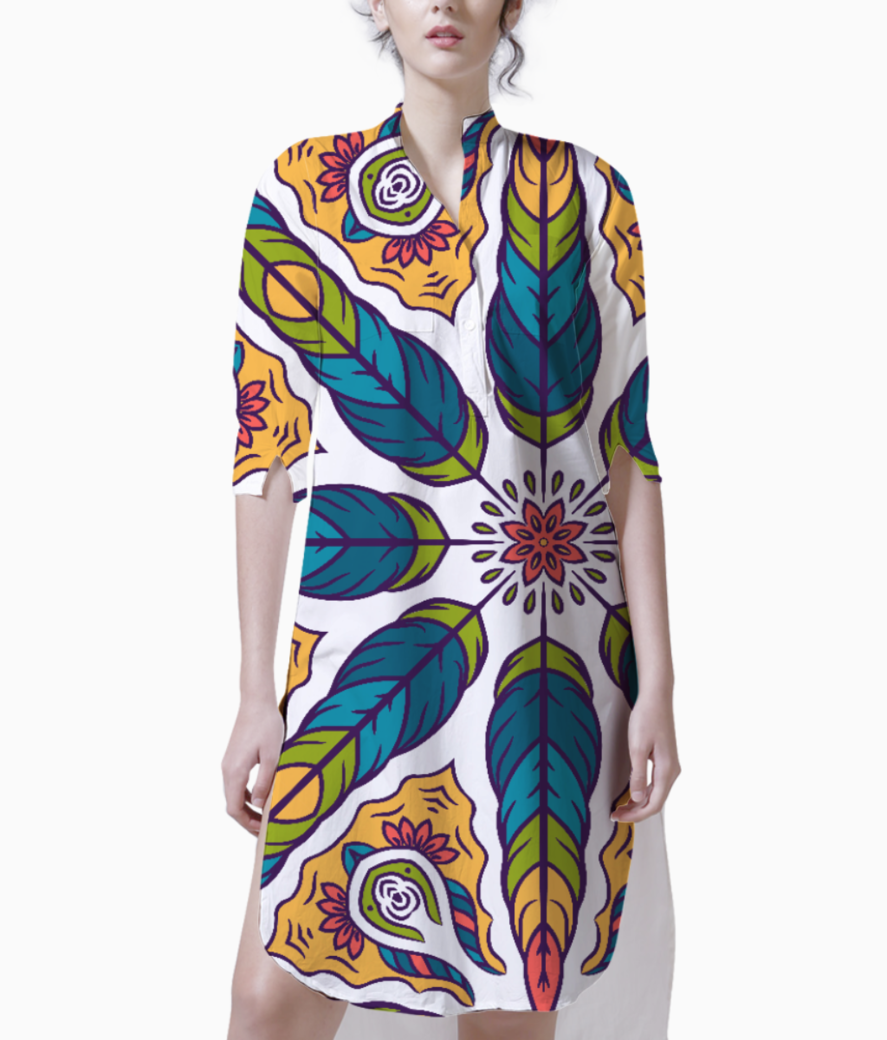 Feather pattern 1 kurti front