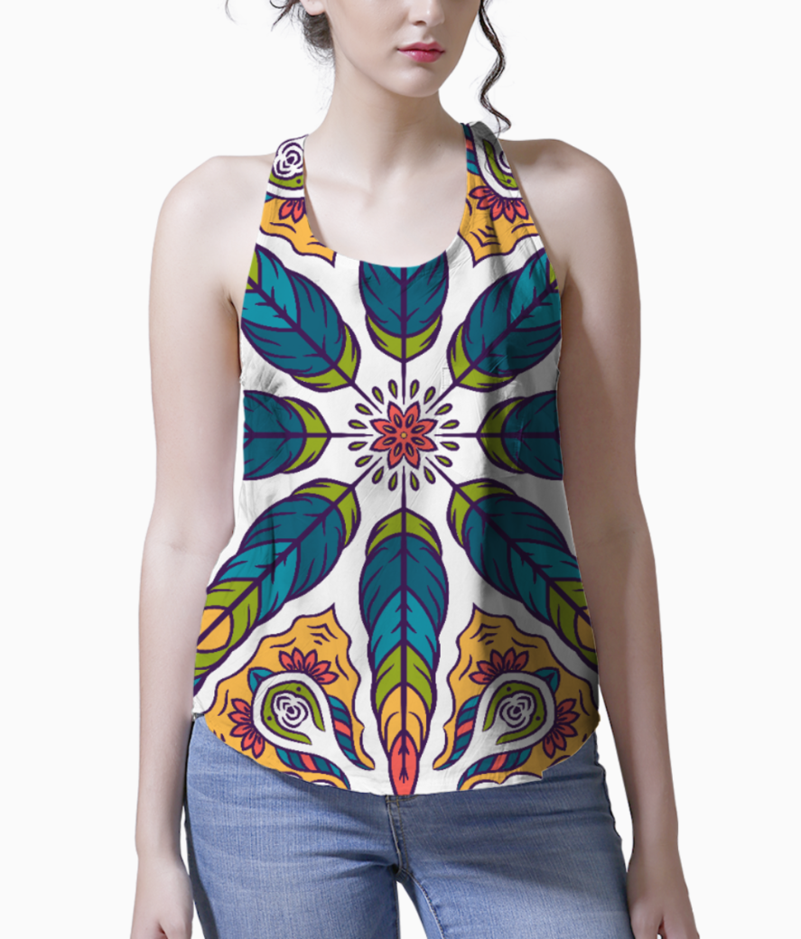 Feather pattern 1 tank front