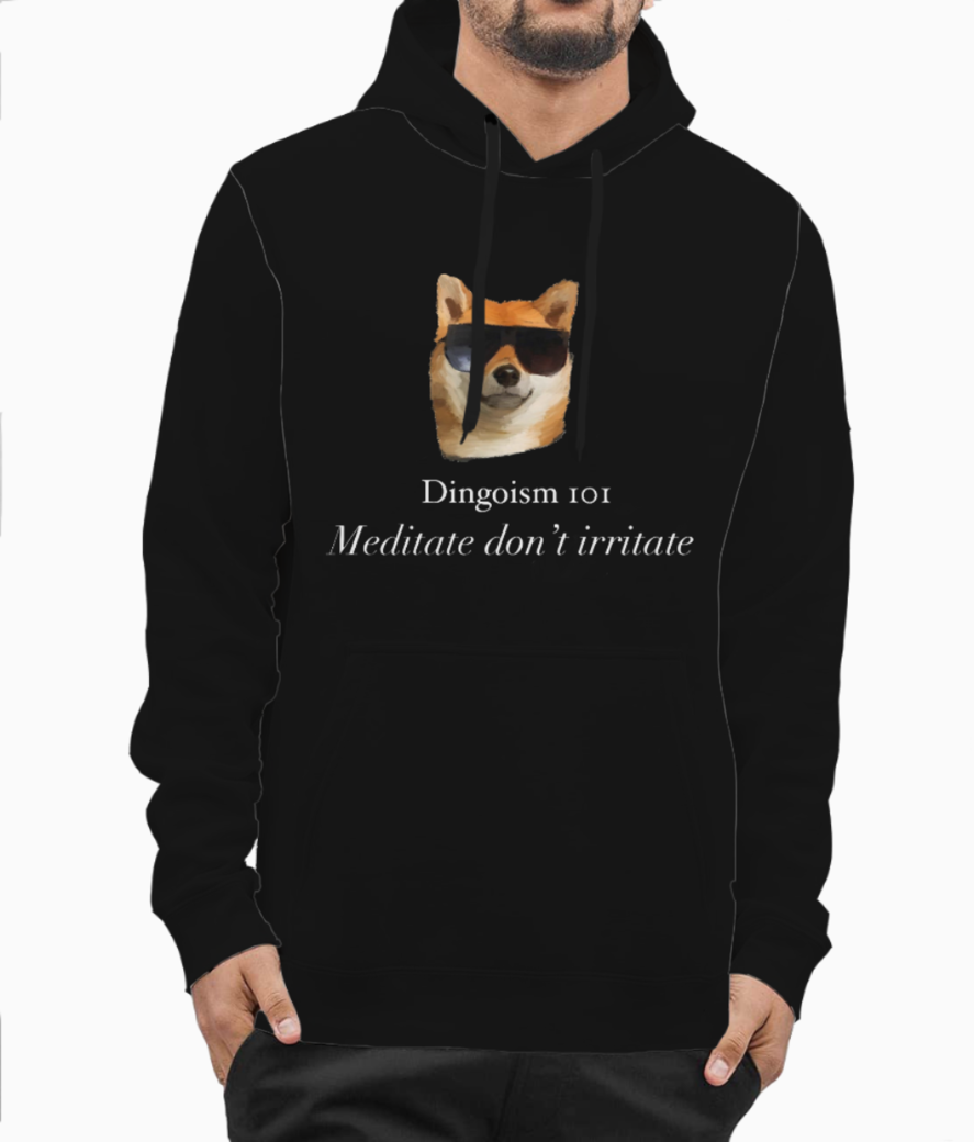 Meditate copy hoodie front