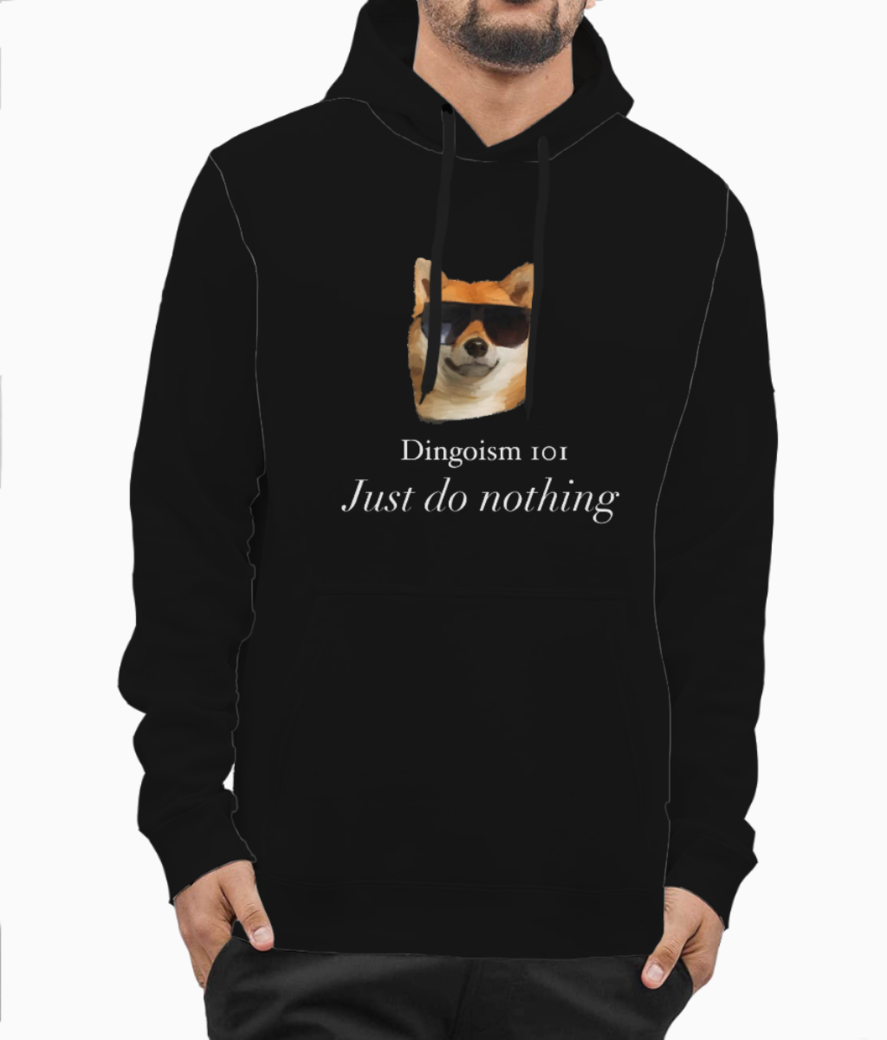 Just do nothing copy hoodie front