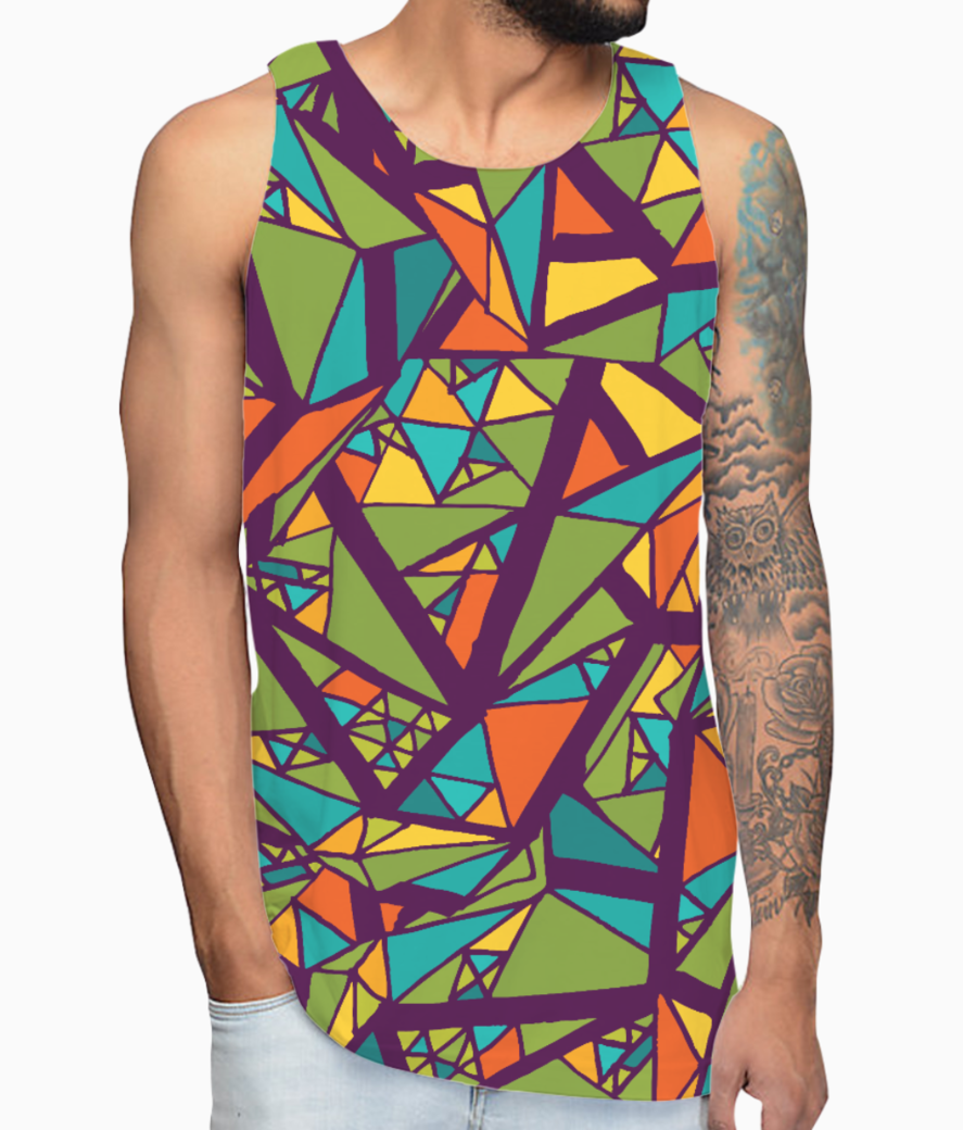 Aabstract art vest front