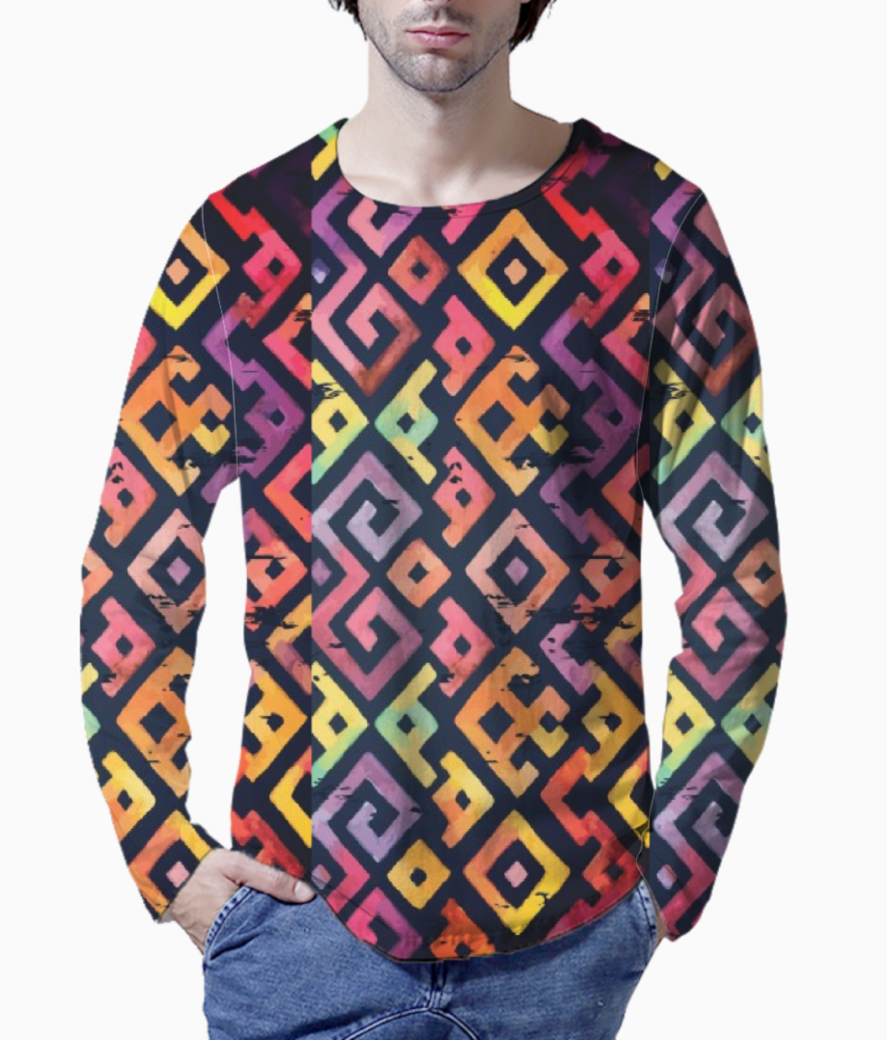 Square pattern 2 henley front