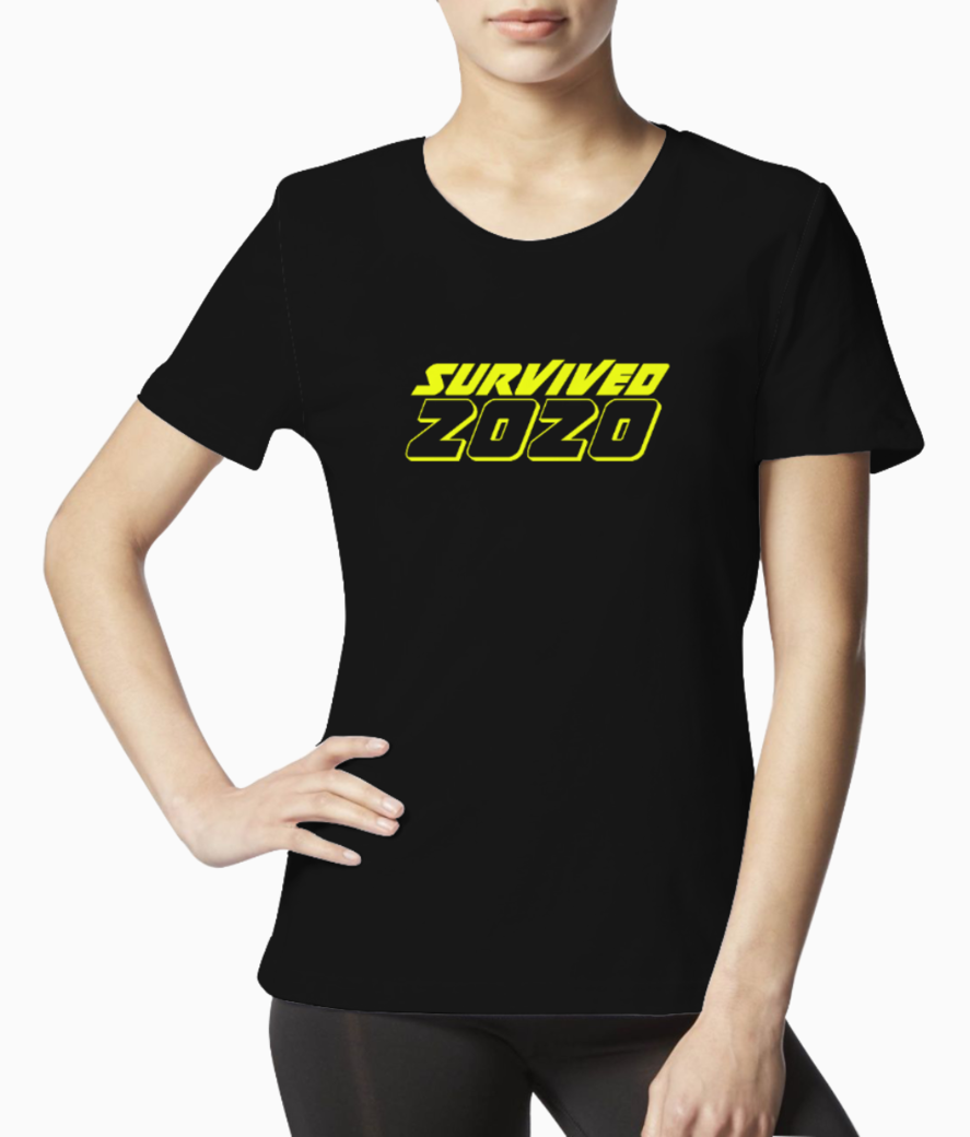 Survived 2020 copy tee front